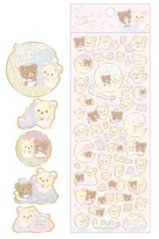 Stickervel San-X Korilakkuma & Chairoikoguma Pink Sky