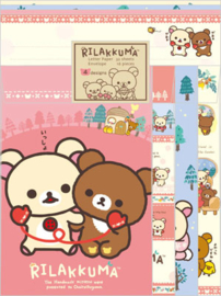 Briefpapierset Rilakkuma Happy life Rosa