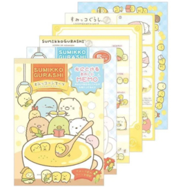 Memoblok groot Sumikkogurashi Shirokuma Big Corn Soup Family