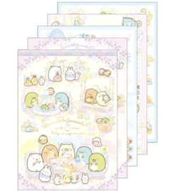 Memopad large San-X Sumikkogurashi - Fushigina Usagi No Oniwa Happy food