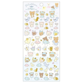 Sticker sheet Washi San-X Rilakkuma Dino footprint