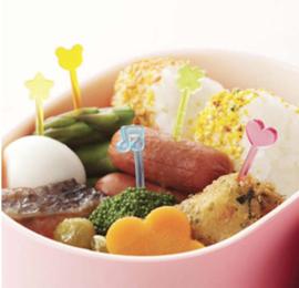 Kawaii Bento Picks Regenbogen - 50 Bento Picks