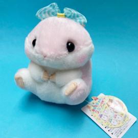 Amuse Koro Hamu Bow plush - roze - 13 cm