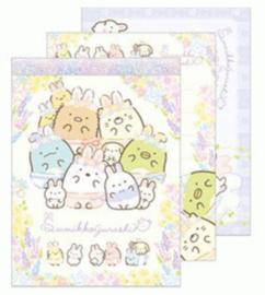 Memopad San-X Sumikkogurashi - Fushigina Usagi No Oniwa #1 Happy Family