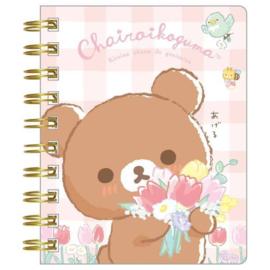 Notebook klein Rilakkuma Chairoi Koguma No Otomodachi - Pink