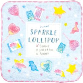 Mini Handtowel 21 x 21 cm Sparkle Lollipop
