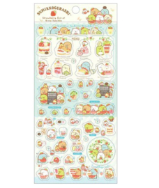 Stickersheet San-X Sumikkogurashi Strawberry Fair
