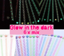 Lucky star glow in the dark - 6 x mix pattern