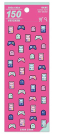 Stickersheet Korean Mart Happy Gamer Pink
