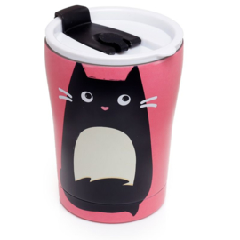 Feline Fine cat Reusable Stainless Steel Thermos Cup
