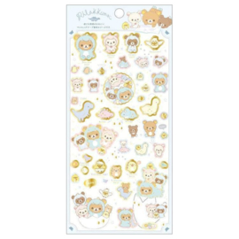 Sticker sheet Washi San-X Rilakkuma Dino and friends
