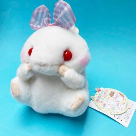 Amuse Koro Hamu Bow plush - wit - 13 cm