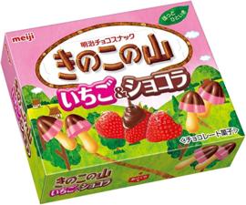 Meiji Kinoko No Yama Ichigo Schokoladenkekse