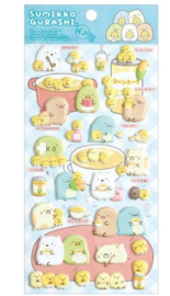 Stickersheet San-X Sumikkogurashi Puffy Shirokuma ga Soup Blue