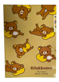 A4 Fileholder Rilakkuma Relaxed