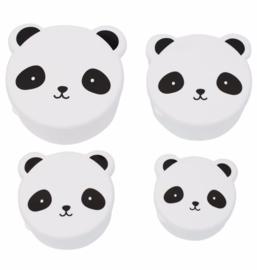 Kawaii bakjes Panda (4 stuks)