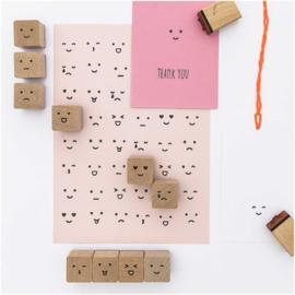 Kawaii face stamp set