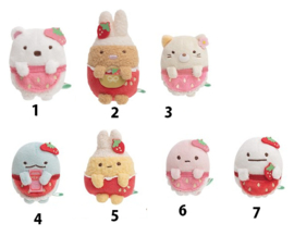 Mini Plush Sumikkogurashi Erdbeere (choose one)