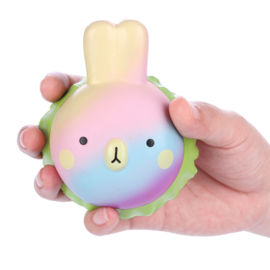 Squishy Vlampo Rainbow Rabbit Burger
