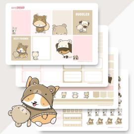 Planner Sticker Kit - Teddy Dogs - CutieSquad
