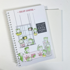 Bullet Journal A5 - Cactus Cats - Cutiesquad