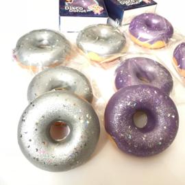 Squishy Puni Maru Disco Donut - Silver or Purple