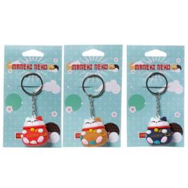 Maneki Neko Lucky Cat keychain