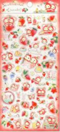Stickersheet San-X Sentimental Circus - Strawberry - Picknick