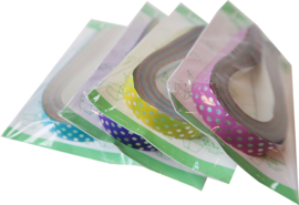 Lucky star papier glimmend - Mixed Colours Dots (smal)