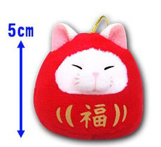 Amuse Daruma Sasuke Plush red cat