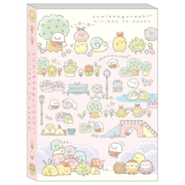 Memo pad large San-X Sumikkogurashi Minikko To Osako -Pink