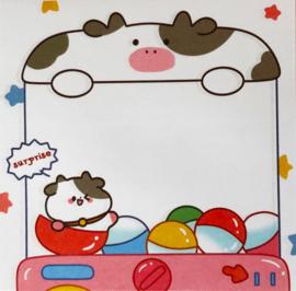 Kawaii Sticky Notes - Cow Gacha