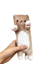 Kawaii Cat Plush - Brown