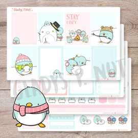 Planner Sticker Kit - Penguins - CutieSquad