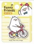Magnetische boekenlegger Funny Friends - Yellow