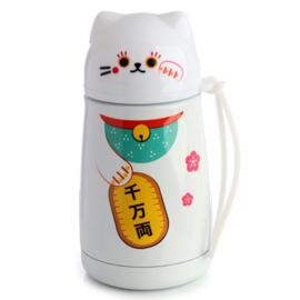 Maneki Neko RVS Thermos bottle