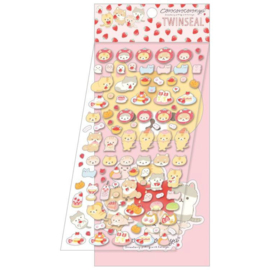 Stickersheet 2 Sheets - San-X - Corocoro Coronya - Strawberry Pink