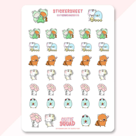 Stickersheet - Spring - CutieSquad