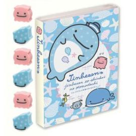 Memoboekje + gum groot Jinbesan Sea Life Blauw