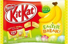 KitKat mini Banana - zak 12 stuks