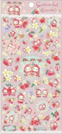 Stickersheet San-X Sentimental Circus - Strawberry - Flower