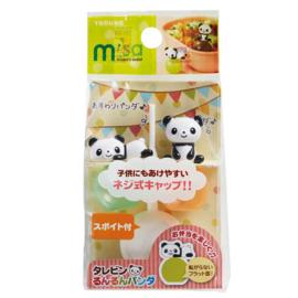 2 Stück Panda Mini-Soßebehälter für Bento Box