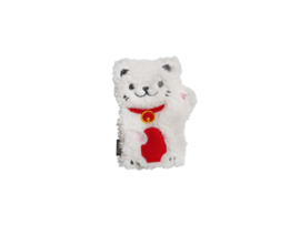 Mini Huggable Lucky Cat - magnetron plushie