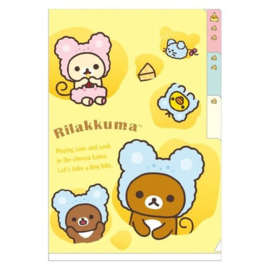 Mini Sammelmappe Rilakkuma Cheese