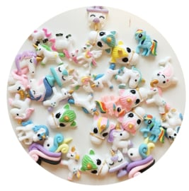 DIY Kawaii Cabochons thema UNICORN - 10 stuks