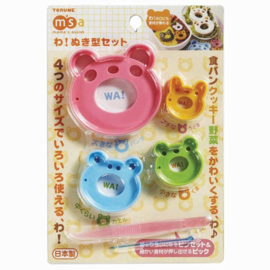 Kawaii Cookie Cutters - Panda Friends