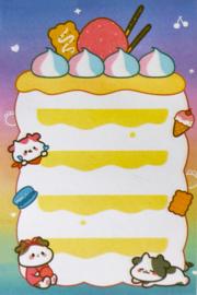 Kawaii Sticky Notes - Cow Cake