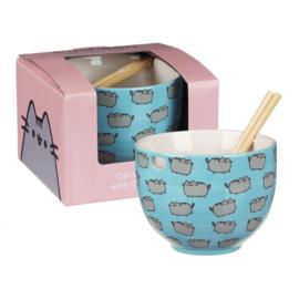 Pusheen Rice Bowl (met chopsticks!)