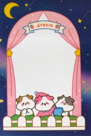 Kawaii Sticky Notes - Cow Dream