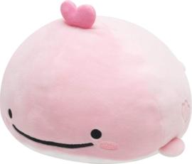 San-X Jinbesan Mochi Stretchy plushie pink